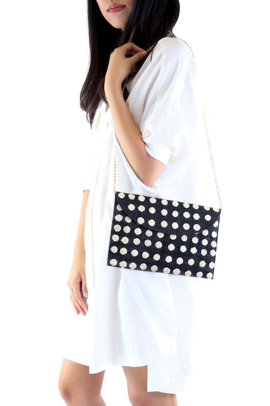 Kayu Tulum Black Clutch - Side Cropped Image