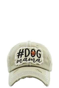 Shoptiques Product: Dog Mama Washed Vintage Ball Cap