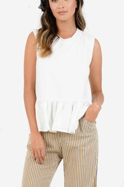 Lucca Keaton Peplum Top - Front cropped
