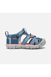 Keen Big Kids Seacamp II CNX in Real Teal/Stone Blue - Front full body