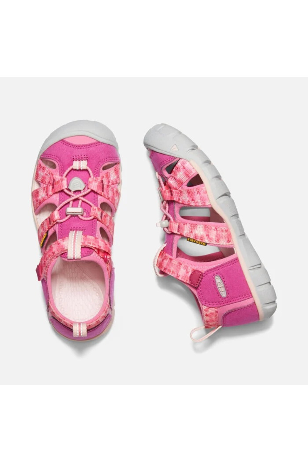 Keen Big Kids Seacamp II CNX in Very Berry/Pink Carnation - Side Cropped Image