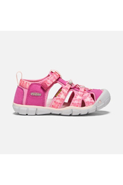 Keen Big Kids Seacamp II CNX in Very Berry/Pink Carnation - Front full body