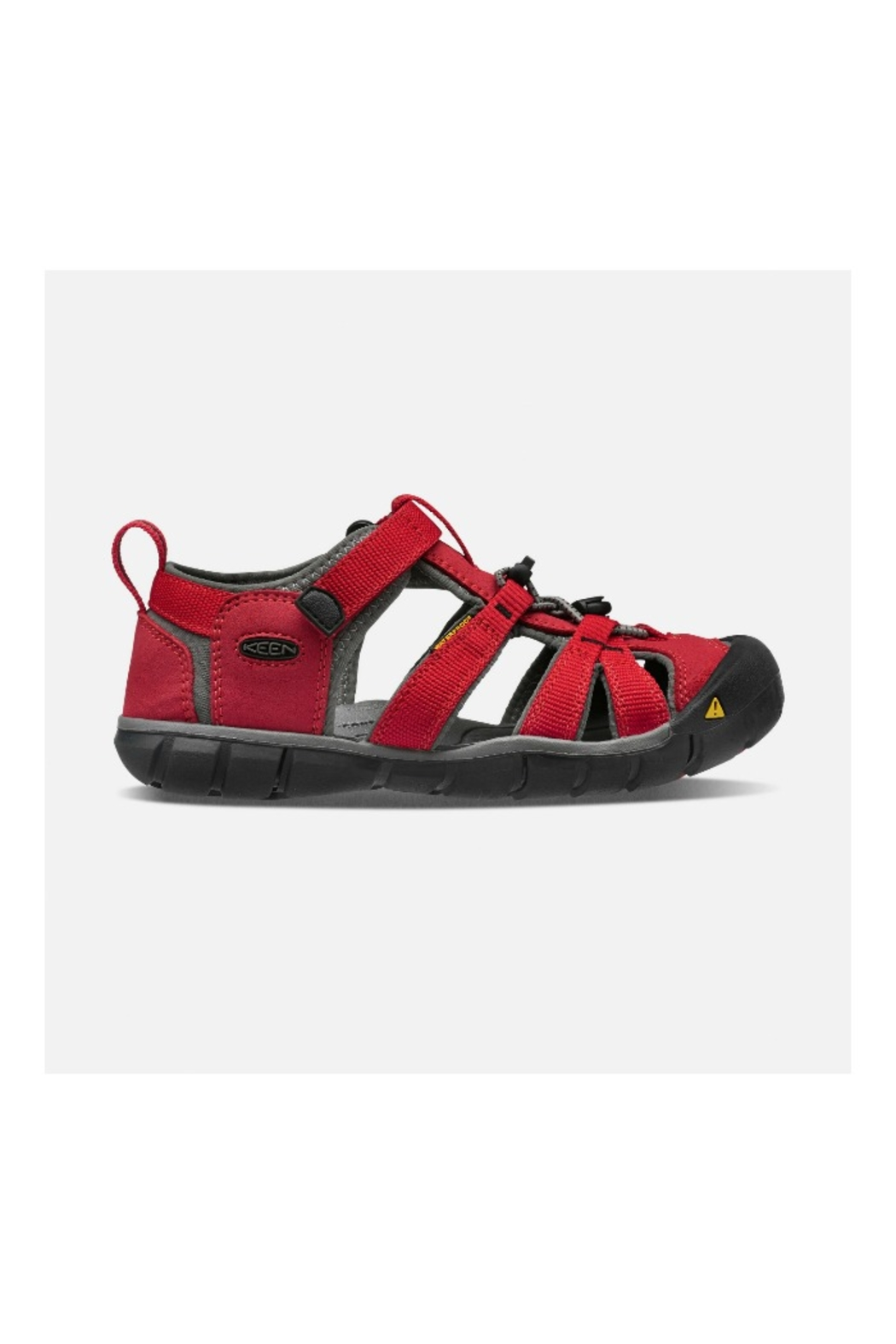 Keen Seacamp II CNX Youth in Racing Red/Gargoyle - Front Full Image