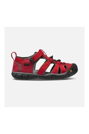 Keen Seacamp II CNX Youth in Racing Red/Gargoyle - Front full body