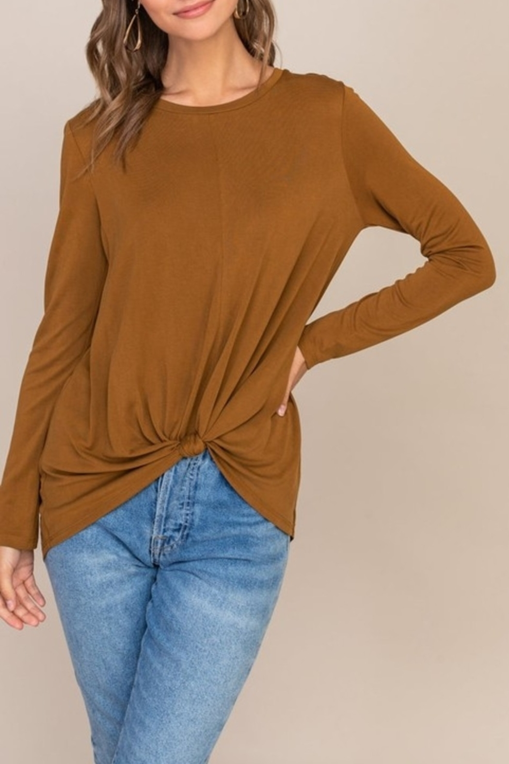 Lush Keep it Simple top - Front Cropped Image