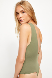 Free People Keep It Sleek Bodysuit - Front full body