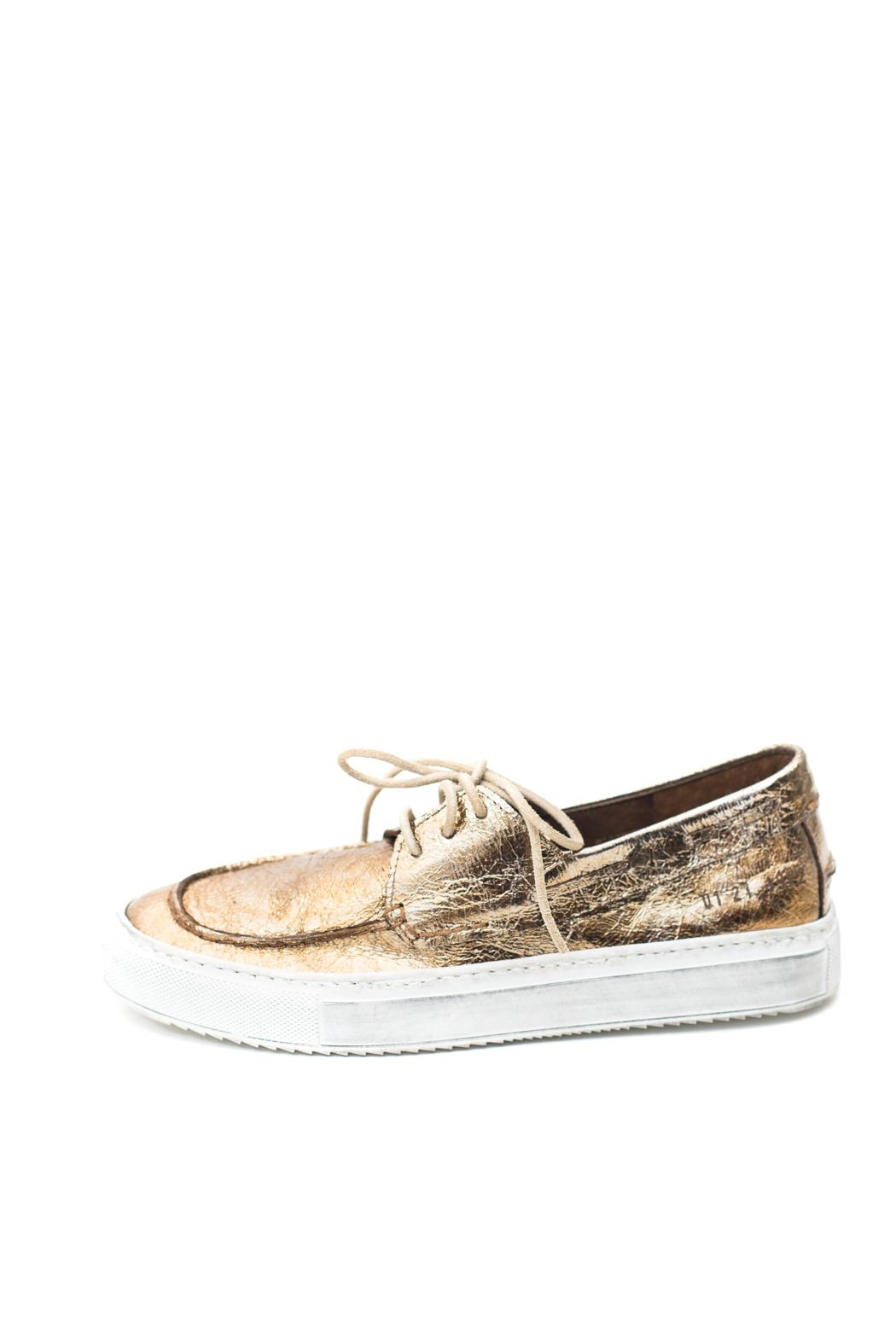 Keep Metallic Boat Sneaker - Front Cropped Image