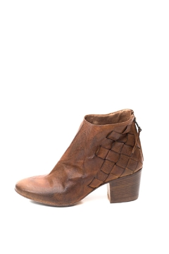 Shoptiques Product: Tan Woven Ankle Boot