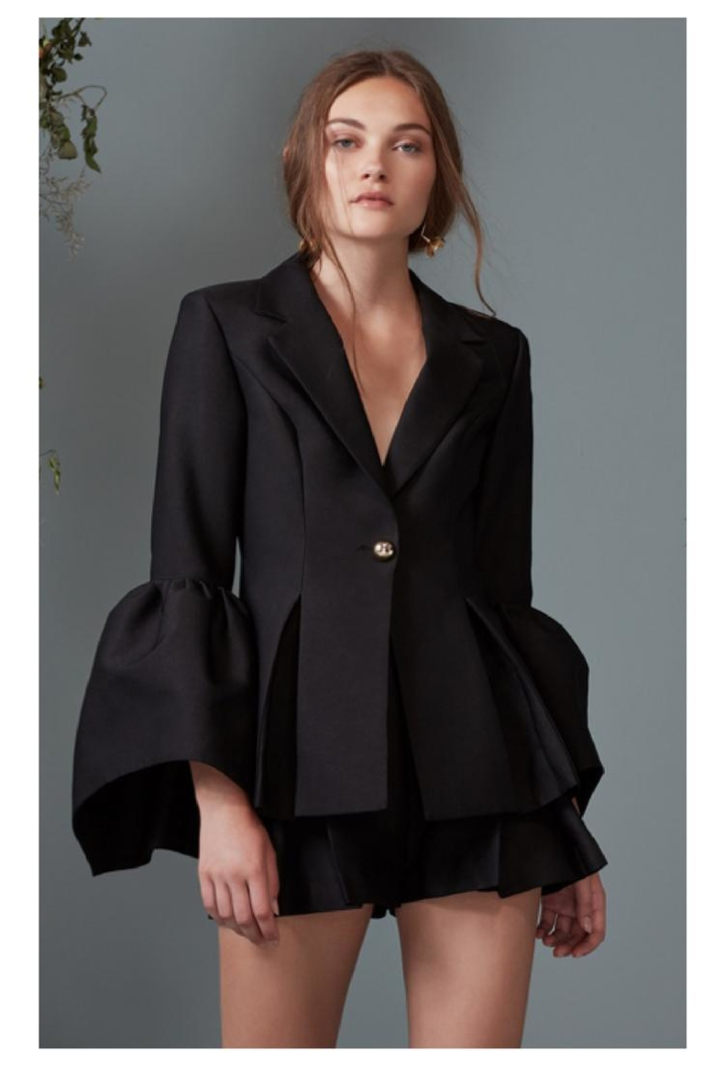 Keepsake Bell-Sleeve Suit Jacket - Front Cropped Image