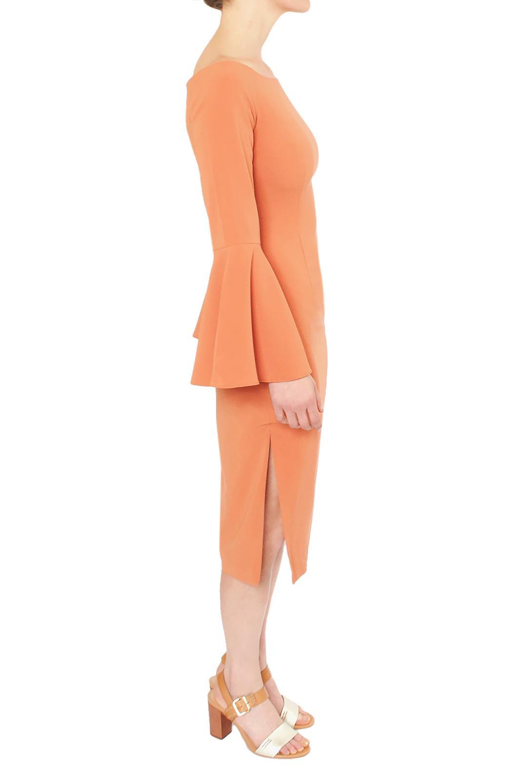 Keepsake Coral Flare Dress - Front Full Image
