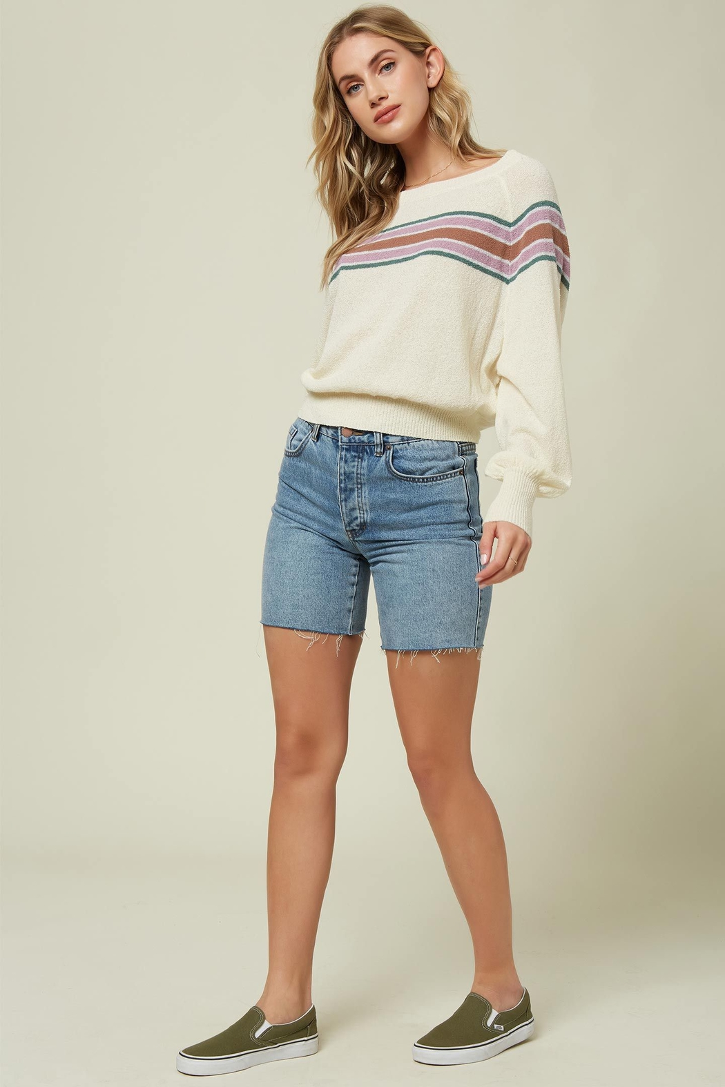 O'Neill Keiki Stripe Pullover Sweater - Front Cropped Image