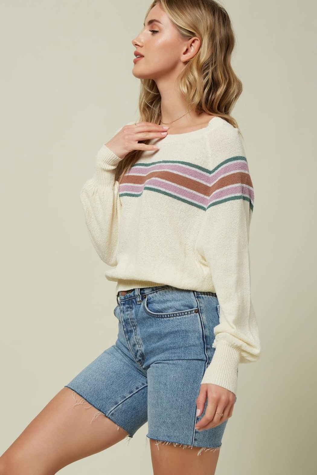 O'Neill Keiki Stripe Pullover Sweater - Side Cropped Image