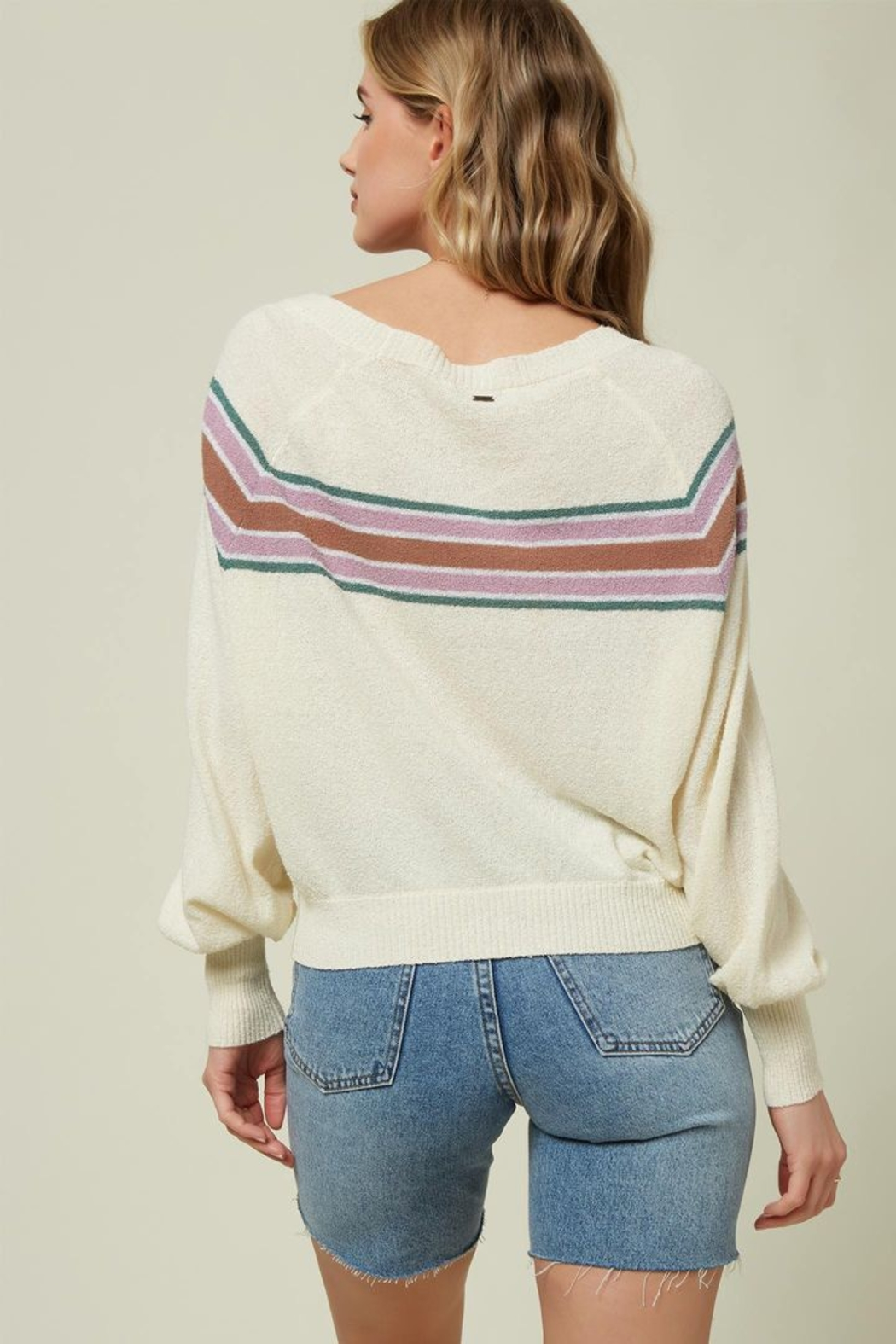O'Neill Keiki Stripe Pullover Sweater - Front Full Image
