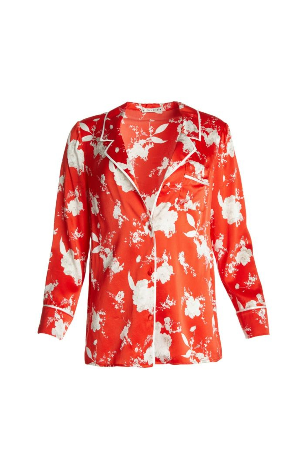 Alice + Olivia Keir Pajama Top - Side Cropped Image