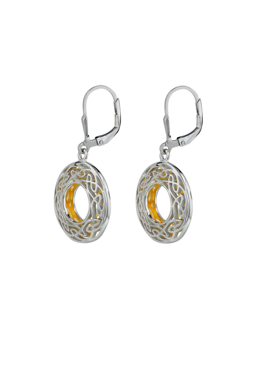 Keith Jack Celtic Window Earrings - Front Full Image