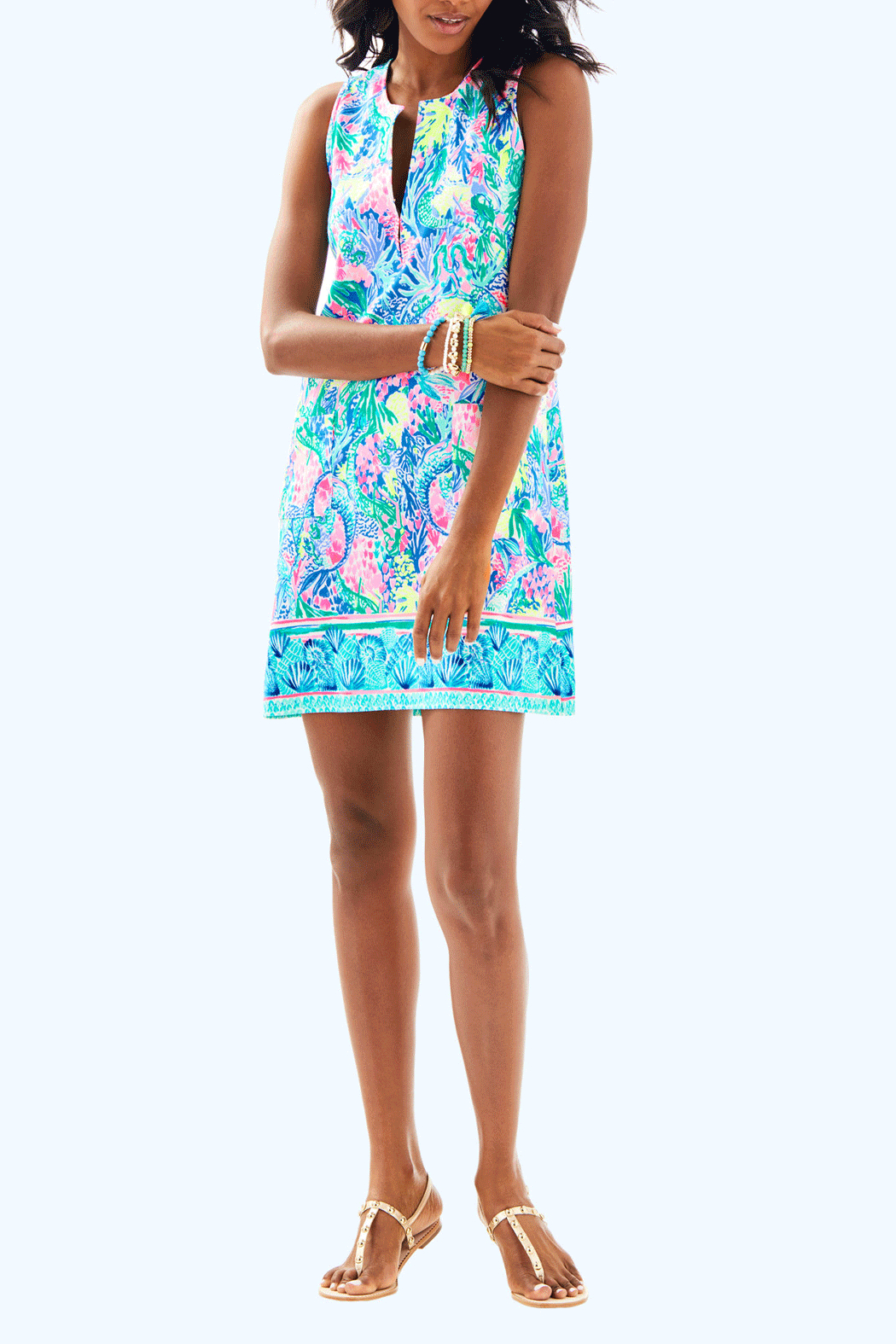 Lilly Pulitzer Kelby Shift Dress - Back Cropped Image