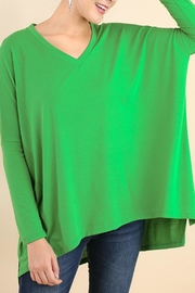 Umgee USA Kelli Green Tunic - Front cropped
