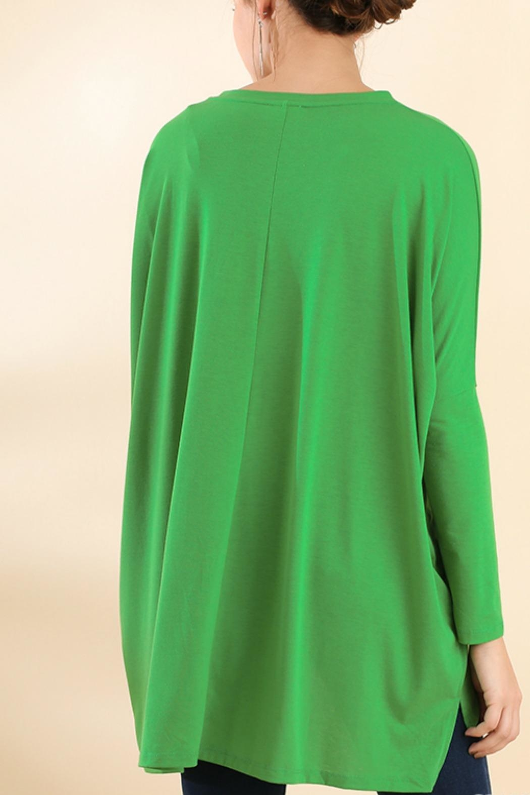 Umgee USA Kelli Green Tunic - Front Full Image