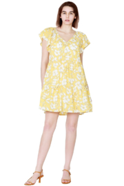 Velvet by Graham and Spencer Kellie Dress Yellow - Product Mini Image