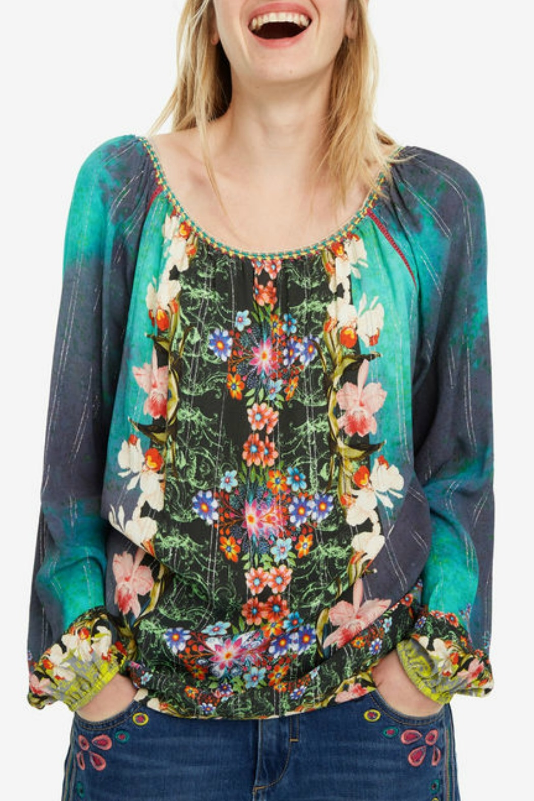 DESIGUAL Kelly Blouse - Front Cropped Image