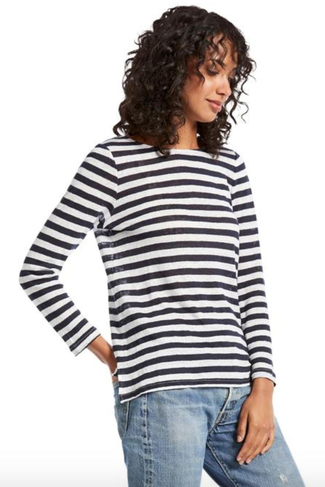 Michael Stars Kelly Boat Neck Top - Front Full Image