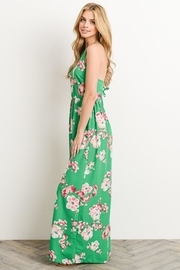 Soprano Kelly-Green Floral Maxi - Side cropped