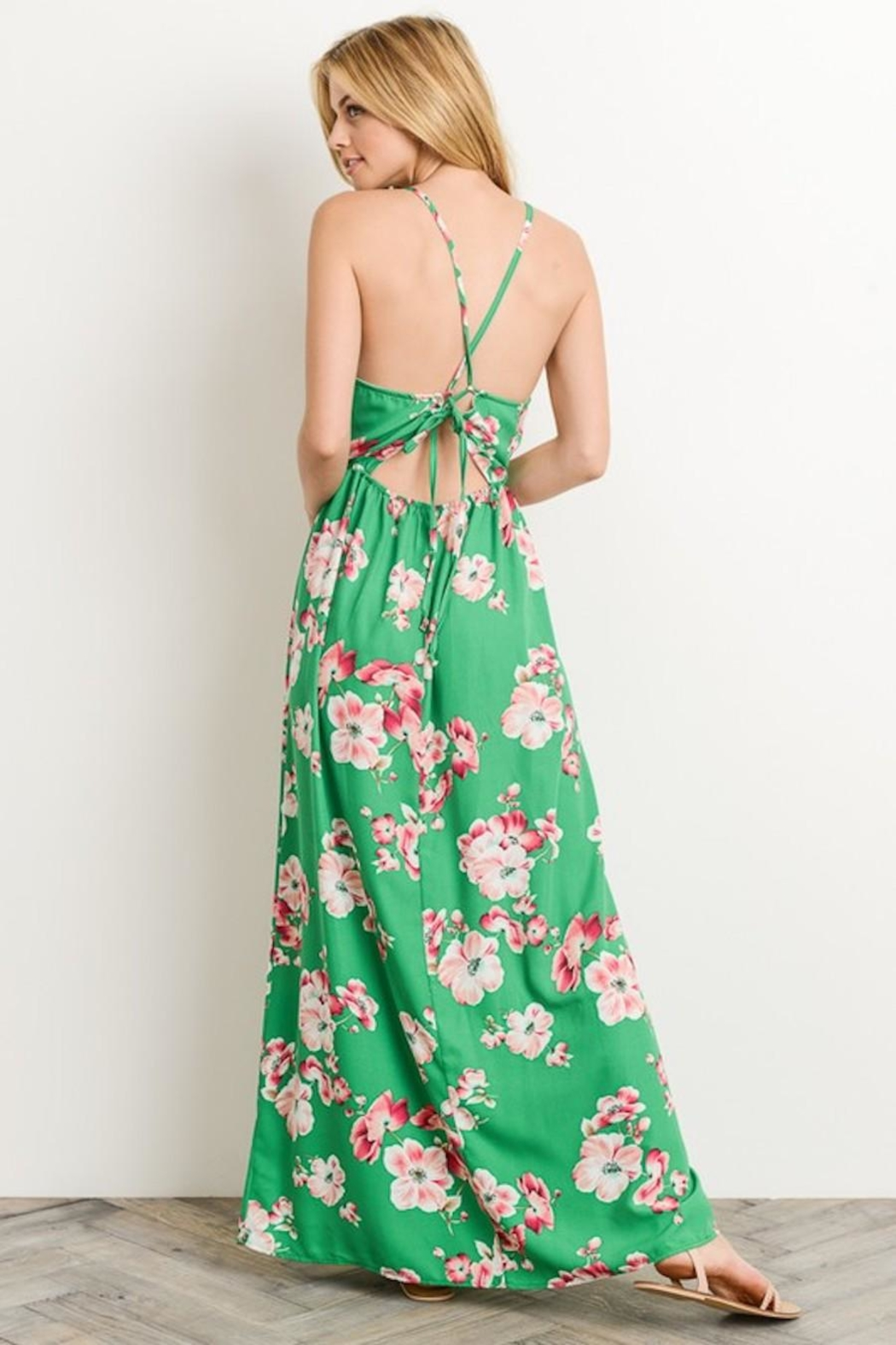 ceecbfc44c Soprano Kelly-Green Floral Maxi from Los Angeles by AndyLiz Boutique ...