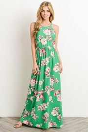 Soprano Kelly-Green Floral Maxi - Front cropped