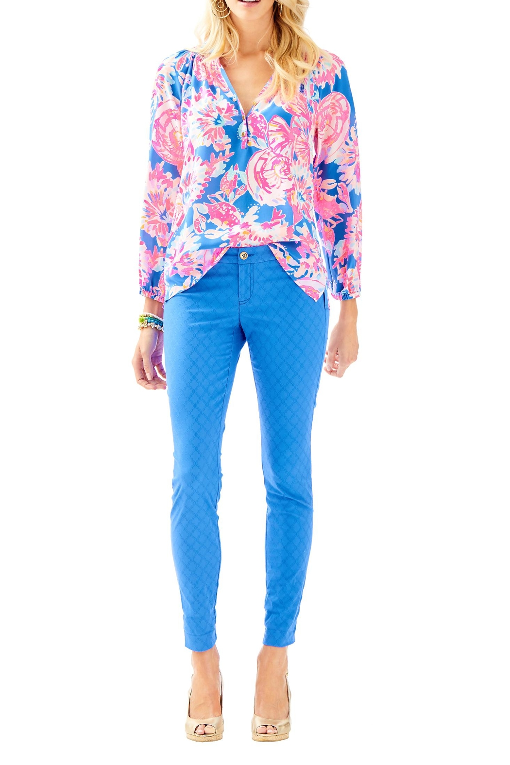 Lilly Pulitzer Kelly Skinny Pant - Back Cropped Image