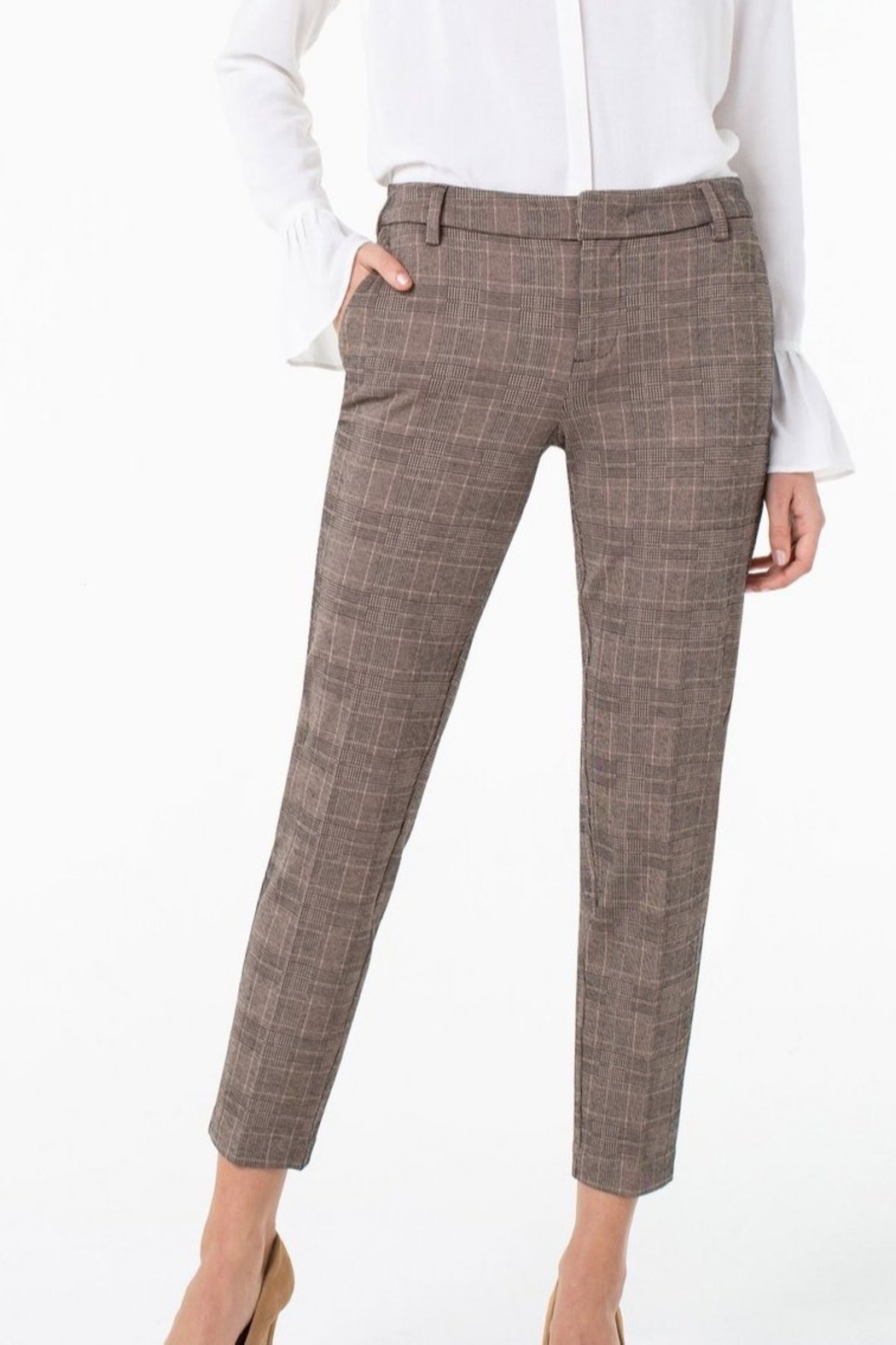 Liverpool Kelsey Checked Trouser - Back Cropped Image