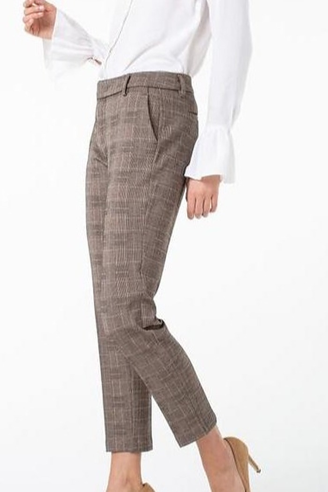 Liverpool Kelsey Checked Trouser - Side Cropped Image