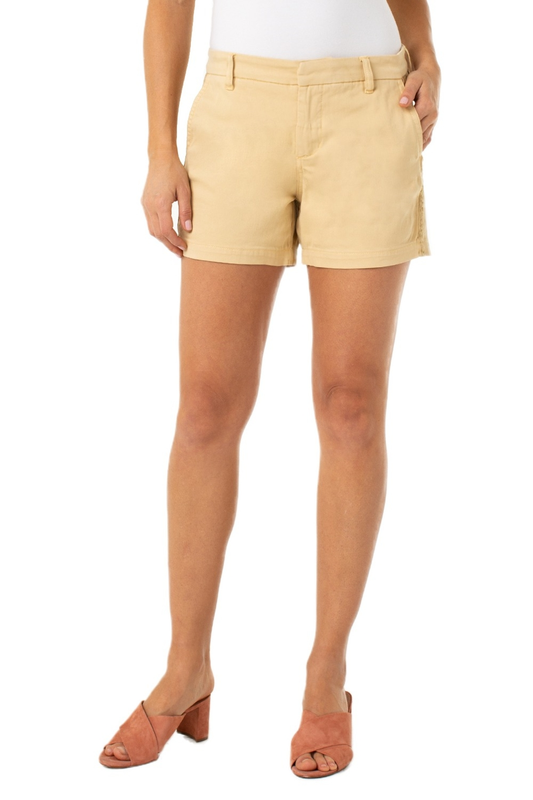 Liverpool Kelsey Short with Side Trim - Front Full Image