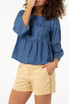 Liverpool Kelsey Short with Side Trim - Product List Image
