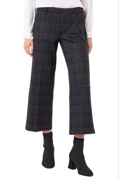 Liverpool Kelsey Stovepipe Trouser Black/Grey Plaid - Alternate List Image