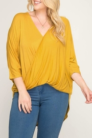 She + Sky Kelsey Surplice Blouse - Product Mini Image
