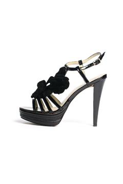 Kelsi Dagger Hania Black Flower Heels - Product List Image