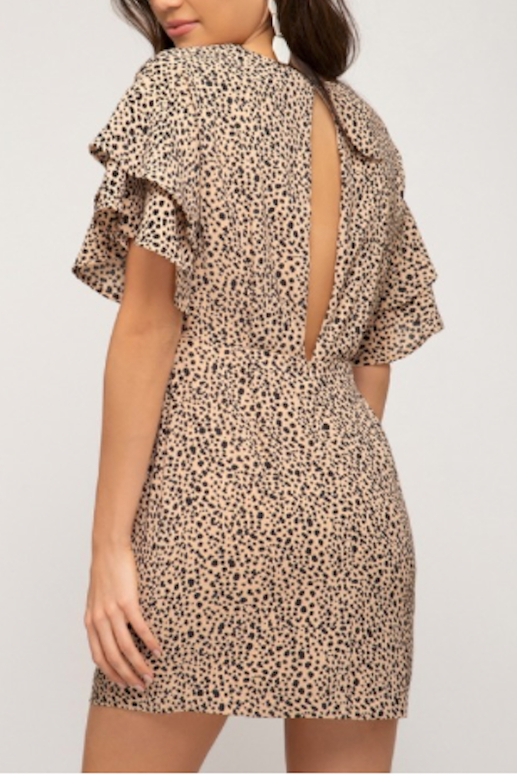 She & Sky  Keltie Keyhole Dress - Front Full Image