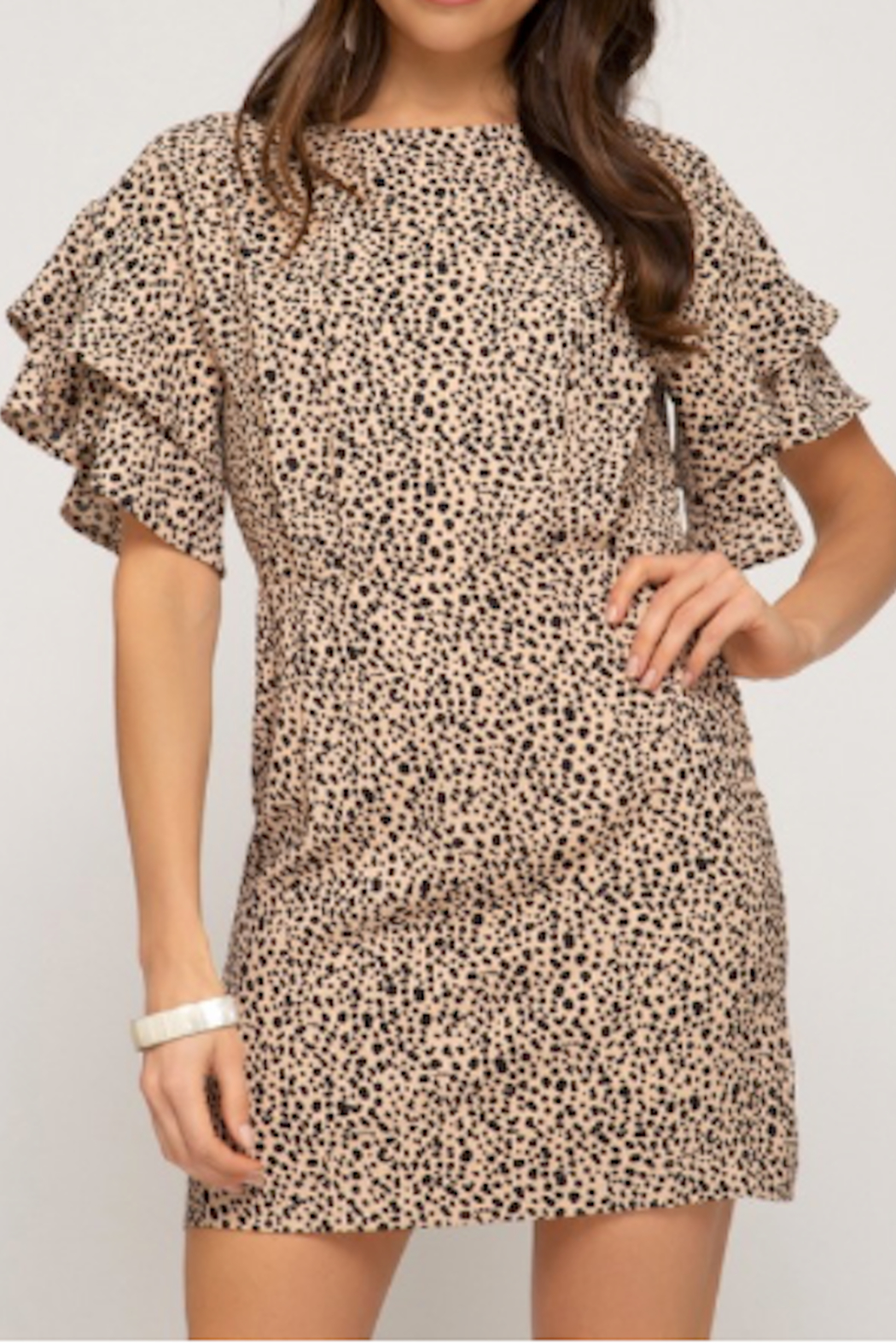 She & Sky  Keltie Keyhole Dress - Main Image