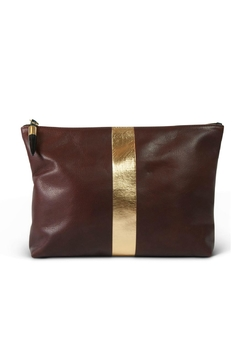 Kempton & Co. Brandy/gold Leather Clutch - Alternate List Image