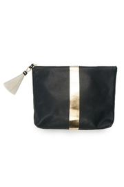 Kempton & Co. Navy/gold Leather Clutch - Product Mini Image