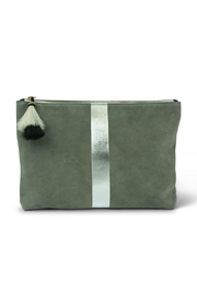 Kempton & Co. Storm Silver-Suede Pouch - Product Mini Image