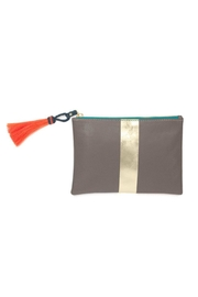 Kempton & Co. Truffle/gold Small-Leather Pouch - Front cropped