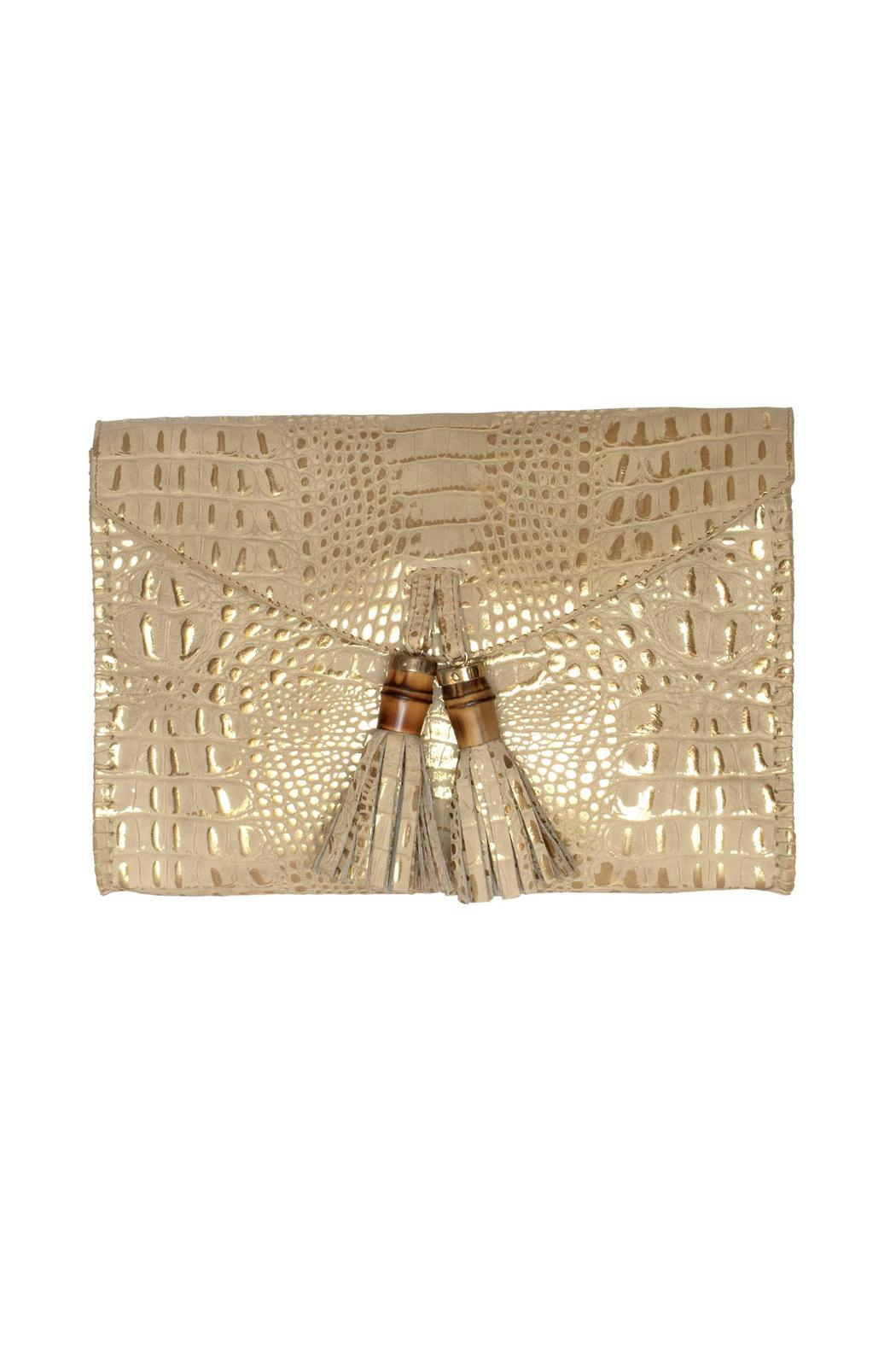Kenall Bamboo Clutch - Front Cropped Image