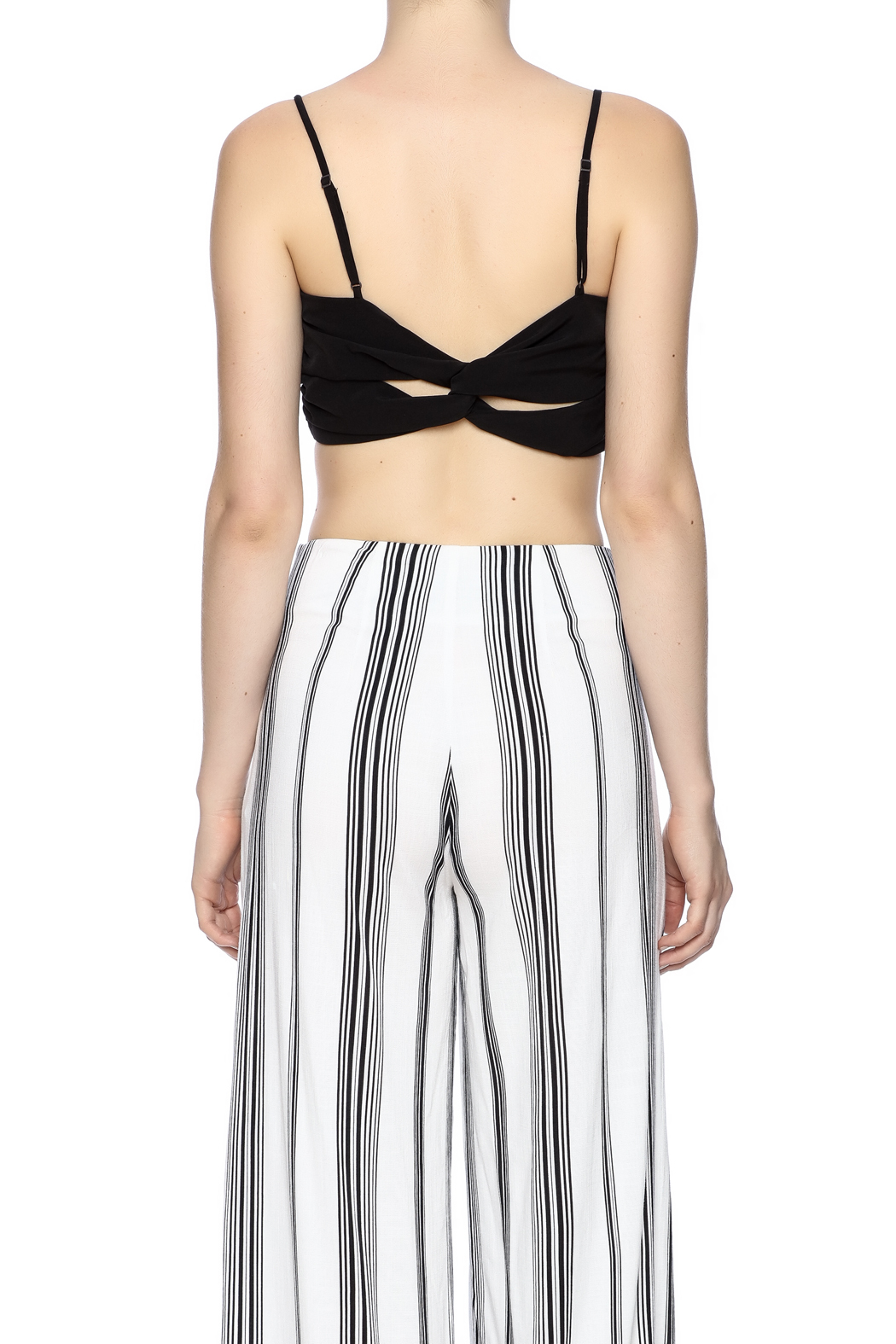 Kendall + Kylie Ruched Crop Bustier - Back Cropped Image