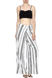 Kendall + Kylie Ruched Crop Bustier - Front full body