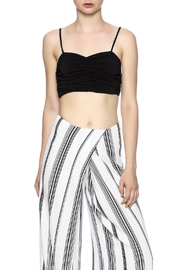 Kendall + Kylie Ruched Crop Bustier - Front cropped
