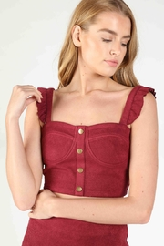 Honey Punch Kendall Bustier Ruffle Tank Crop - Front cropped