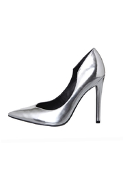 Kendall + Kylie Abi Metallic Heels - Front full body