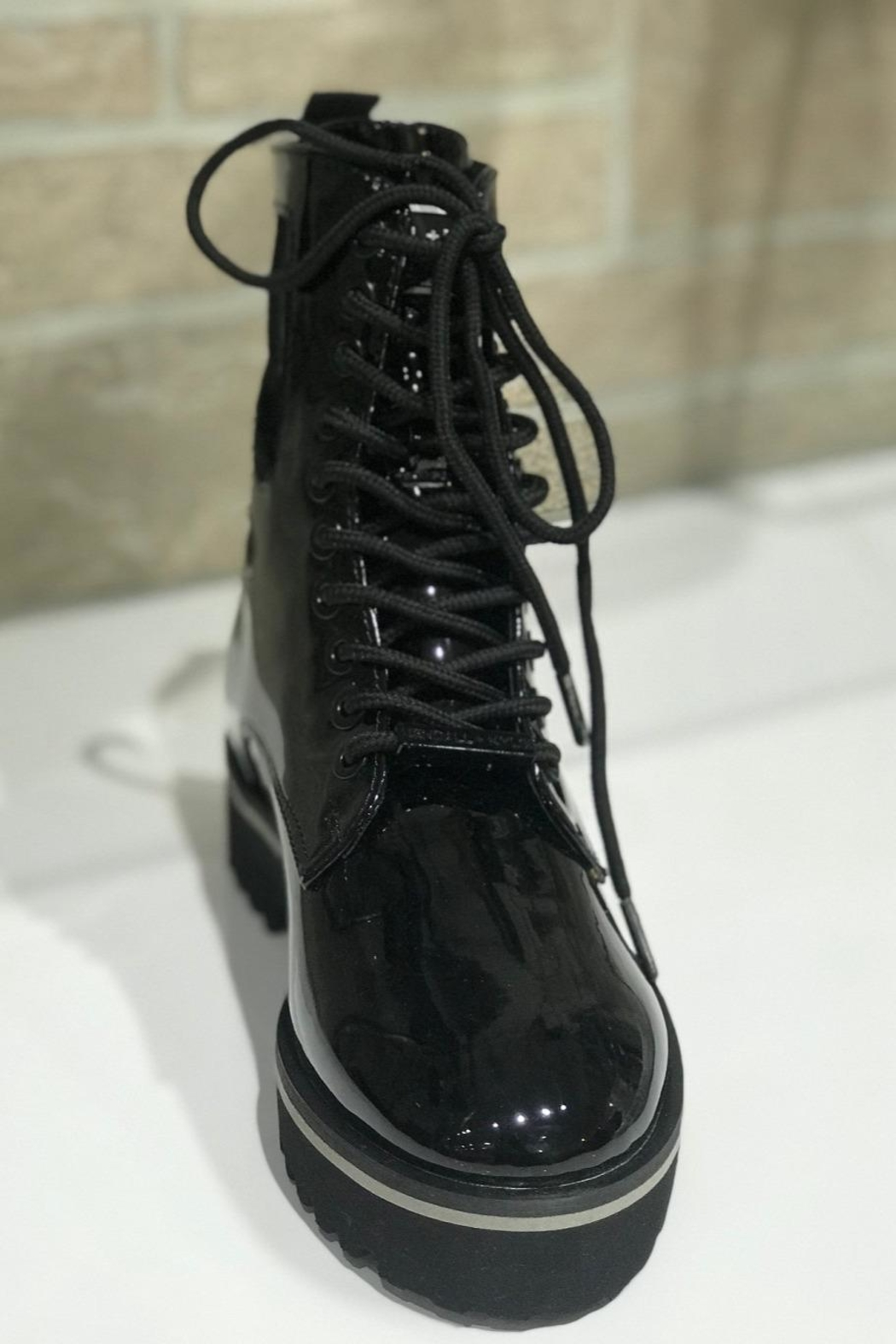Kendall + Kylie Cut Out Combat Boot - Front Full Image