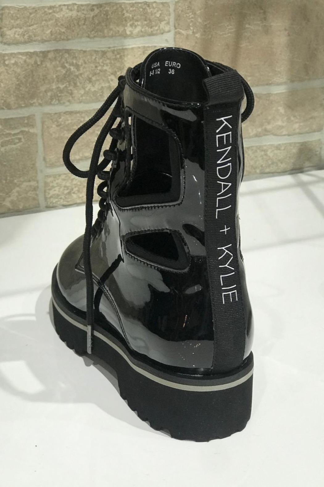 Kendall + Kylie Cut Out Combat Boot - Side Cropped Image